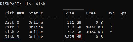 diskpart-list-disk