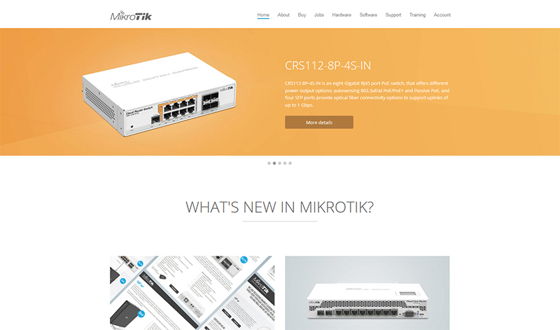 MikroTik website